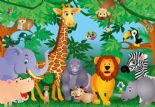 Wizard + Genius Wallpaper Wall Mural 00122 In the Jungle By Colemans